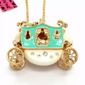 NWT•Betsy Johnson princess carriage long necklace